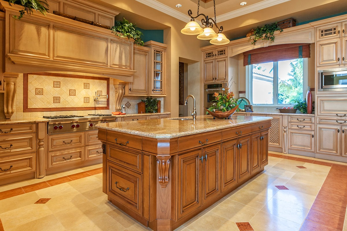 Maple Cabinets - Porcelain Accents | Winds of ChangeWinds ... on Countertops That Go With Maple Cabinets  id=23829
